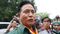 Ketua Umum Partai Bulan Bintang, Yusril Ihza Mahendra saat ditemui wartawan di Pagelaran Keraton Solo, Senin (7/5).(Liutan6.com/Fajar Abrori)