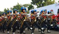 Polisi cilik ikut parade Momo untuk sambut Asian Para Games 2018.