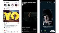 Konten IGTV kini bisa di share ke Instagram Story. Liputan6.com/ Yuslianson