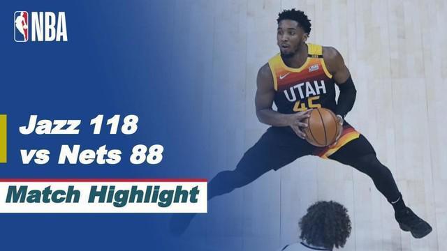 Berita video highlights NBA 2020/2021 antara Utah Jazz melawan Brooklyn Nets yang berakhir dengan skor 118-88, Kamis (25/3/2021) pagi hari WIB.