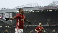 Manajer Manchester United (MU) Jose Mourinho masih membutuhkan pembuktian dari striker Anthony Martial. (OLI SCARFF / AFP)