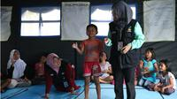 Anak korban gempa Palu. (Liputan6.com/Dok. Kemensos)