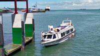 Kapal speedboat yang penumpangnya loncat ke luar rute Nunukan-Tarakan Kalimantan Utara.
