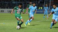 PSMS Medan kembali menelan kekalahan. Mereka takluk 1-4 dari Persela Lamongan pada pekan keenam Liga 1 2018. (Bola.com/Ronald Seger)