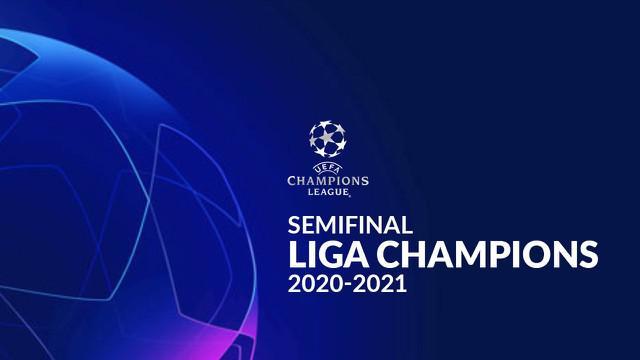 Berita motion grafis jadwal semifinal Liga Champions, Real Madrid tantang Chelsea di Stamford Bridge.