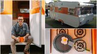 Mobil caravan yang terbuat dari potongan lego berhasil memecahkan rekor Guinness World Records dengan jumlah lego terbanyak.