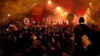 Demonstrasi terkait sistem pensiun di Perancis. (Source: AFP/ Zakaria Abdelkafi)