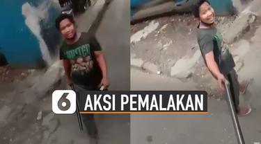 Beredar video aksi pemalakan terhadap sopir truk. Namun masalah itu akhirnya berujung damai.
