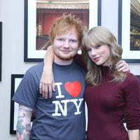Ed Sheeran dan Taylor Swift (AFP / Anna Webber / GETTY IMAGES NORTH AMERICA)