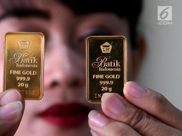 Harga Emas Antam Turun Lagi Jadi Rp 655000 Per Gram Bisnis
