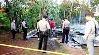Rumah yang dihuni Ramadan (9) yang tewas karena rumahnya terbakar di  Kota Baubau (Liputan6.com/Ahmad Akbar Fua)