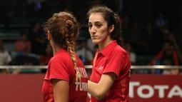 Paras cantik Neslihan Yigit, pemain ganda putri Turki. (Bola.com/Arief Bagus)