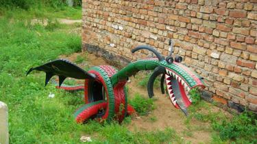 patung dekorasi taman - kumpulan montase, kolase dan mozaik