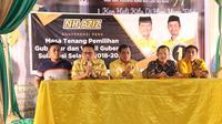 Nurdin Halid dan pengurus Partai Golkar Sulsel (Fauzan/Liputan6.com)