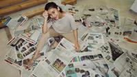 Newspaper room Adinda Thomas (Sumber: Instagram/adindathomas)