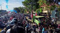 Demo dan konser mini Makassar Racing (Liputan6.com/Fauzan)