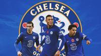 Chelsea - Angel Di Maria, Kylian Mbappe, Marquinhos (Bola.com/Adreanus Titus)