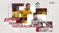 Trivia kiprah pemain naturalisasi di Liga 1 2018. (Bola.com/Dody Iryawan)