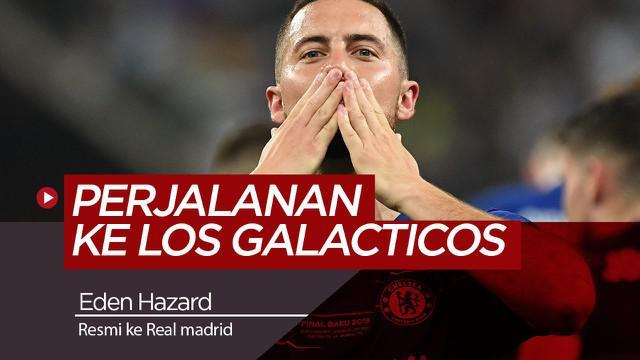 Berita Video Resmi Berseragam Real Madrid, Inilah Perjalanan Karir Eden Hazard
