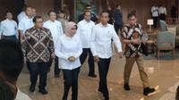 Presiden RI Joko Widodo (Jokowi) mengunjungi Kantor Pusat PLN Jakarta, Senin (5/8/2019).