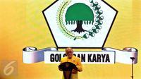 Ketua Umum Golkar Aburizal Bakrie menyampaikan sambutan pada pembukaan Munaslub Partai Golkar di Nusa Dua Convention Center, Bali, Sabtu (14/5). Pemilihan Ketua Umum dan Munaslub Golkar dilaksanakan pada 14-16 di Pulau Dewata (Liputan6.com/Johan Tallo)