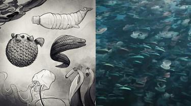 Film Pendek Animasi Ini Beri Gambaran Jika Sampah Plastik di Lautan Hidup, Bikin Pilu