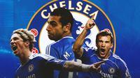 Chelsea - Fernando Torres, Mohamed Salah, Andriy Shevchenko (Bola.com/Adreanus Titus)