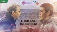 Piala AFF 2018 Thailand Vs Indonesia Duel Pelatih (Bola.com/Adreanus Titus)