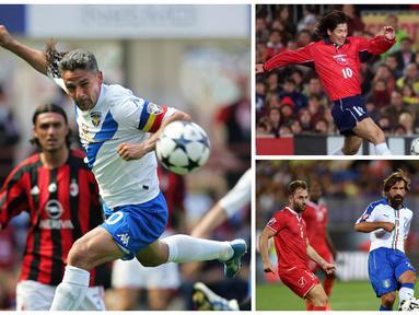 Inilah bintang top yang pernah membela Brescia. Mulai dari Roberto Baggio hingga Andrea Pirlo. (AFP-Squawka)