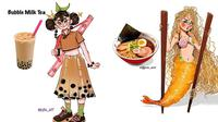 Makanan Jadi Karakter Kartun (Sumber: boredpanda.com)