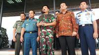 Panglima TNI Marsekal Hadi Tjahjanto usai menyerahkan SPT Pajak di Mabes TNI. (Liputan6.com/Ady Nugrahadi)