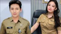 Editan seleb Korea pakai seragam PNS (Sumber: Twitter/chairizaep/pantungalimar)