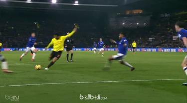 Troy Deeney menjadi pahlawan kemenangan Watford atas Everton dalam pertandingan lanjutan Liga Inggris, Sabtu (24/2). Deeney memeca...