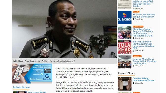 [Cek Fakta] Waspada Penculikan Anak Marak di Jawa Barat, Fakta atau Hoaks?