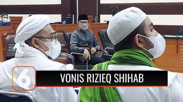 Majelis Hakim Pengadilan Negeri Jakarta Timur, menjatuhkan vonis 4 tahun penjara terhadap Rizieq Shihab, dalam perkara tindak pidana pemberitahuan informasi bohong terkait tes swab di RS Ummi Bogor.