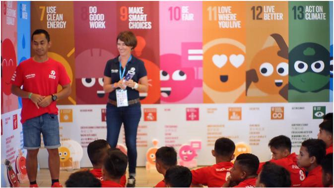 Kampanye 'One Planet One Health' di Danone Nations Cup (Istimewa)