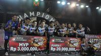Kerambah Futsal berhasil menjadi juara di grand final Super Soccer Futsal Battle 2018 yang digelar di Mall Taman Anggrek, Jakarta Barat, Minggu (14/10/2018). (Istimewa)
