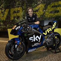 Livery motor SKY Italia VR46 yang akan digunakan Luca Marini untuk MotoGP 2021. (Twitter/Sky Racing Team VR46)