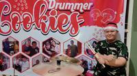 """Imansyah Aditya Fitri Drummer Down Syndrome peringati HUT TNI dengan bawakan lagu """"Selamat Datang Pahlawan Tidar."""" Foto: Emsyarfi (5/10/2020)."""