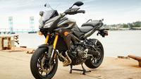 Yamaha FJ-09 hadir dengan suspesi depan dan belakang yang lebih tinggi. Secara otomatis, motor ini juga memiliki ground clearance tinggi.