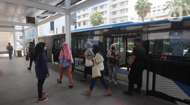 Halte Transjakarta Bundaran HI Kini Kembali Beroperasi