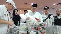 Menteri Agama Lukman Hakim Saifuddin terus berupaya memenuhi keinginan makanan katering jemaah haji. (www.haji.kemenag.go.id)