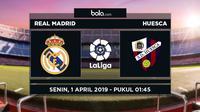 La Liga: Real Madrid vs Huesca. (Bola.com/Dody Iryawan)
