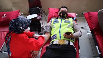 Aksi Kemanusiaan Ratusan Anggota Polisi Tasik Garut Ikut Donor Darah