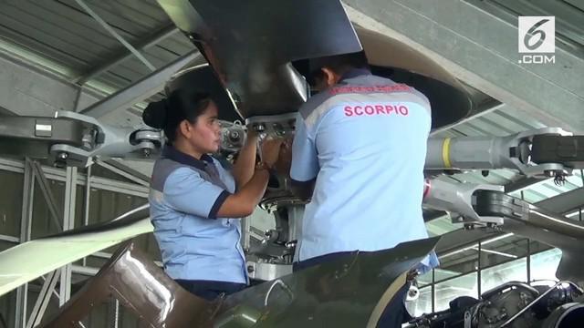 Pelda Iin Herawati, menjadi mekanik wanita satu-satunya di TNI Angkatan Udara.