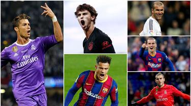 La Liga merupakan salah satu kompetisi terpanas dan bergengsi di Eropa. Klub-klub kasta teratas liga Spanyol itu terkenal tak segan merogoh kocek dalam untuk merekrut pemain incarannya. Berikut 10 rekrutan termahal klub La Liga sepanjang sejarah.