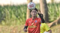 Kapten Arema FC, Ahmad Alfarizi. (Bola.com/Iwan Setiawan)