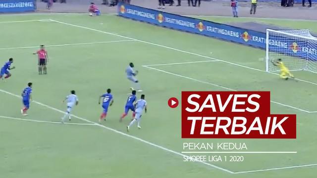 Berita video beragam penyelamatan terbaik yang dilakukan para kiper pada pekan kedua Shopee Liga 1 2020.