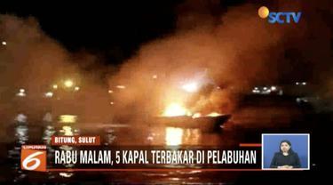 Satu dari lima kapal yang terbakar di Pelabuhan Nusantara Bitung, Sulawesi  Utara,  berhasil dievakuasi.