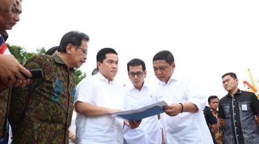 Menteri BUMN Erick Thohir di Pelabuhan Benoa, Bali